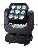 Populäres 9PCS*10W 3*3 bewegliches Hauptlicht 2016 des Projektor-der Matrix-LED