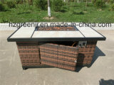 Modular Sofa Set Rattan Bar Set with Fire Pit Table