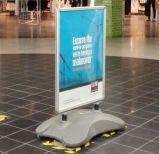 Soporte del cartel de China al aire libre Presupuesto Windmaster pavimento