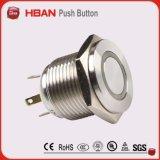 interruttore chiaro del pulsante del diametro di 16mm con i cavi
