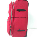 Durable Red Washer Wrinkle Fabric Trolley Suitcase, Custom Faça saco de bagagem de viagem casual com rodas