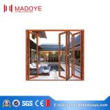 Material de construcción de aluminio de la esquina de cristal doble de la puerta de plegamiento