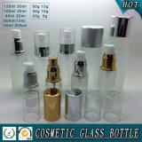 Bottiglia di vetro glassato e vaso cosmetici della crema per cura di pelle