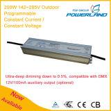 200W 142~285V im Freien programmierbarer konstanter aktueller/konstanter Fahrer der Spannungs-LED