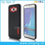 Casse del telefono della fibra del carbonio di TPU per la cassa della galassia J7 di Samsung