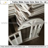 Espejo de madera decorativo hecho a mano blanco del obturador de la ventana de la vendimia antigua