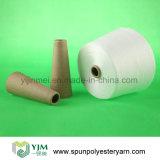 Rohes weißes Polyester-Kegel-Garn für das Nähen/strickend