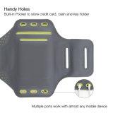 新しい到着の電話腕章の箱は自己力のLycra LEDの腕章を遊ばす