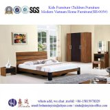 가죽 (SH-001#)를 가진 Malaysian 침실 세트 가구 1인용 침대