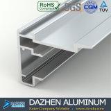 Profil en aluminium en bronze anodisé pour la porte de guichet