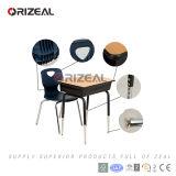 Orizeal 2017 Nuevo estilo de producto de altura ajustable marco de cromo único escritorio de la escuela y la silla