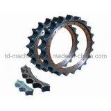 Roda dentada pesada da engrenagem de transmissão da borda da engrenagem da estrutura da lagarta da roda dentada do equipamento para a escavadora da máquina escavadora do caso