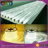 RGB 5050 Flexibele LEIDENE van de hoogspanning Dubbele Lijn 100-240V van de Kabel