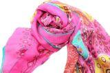 Zoll gedruckter Blumenmittlerer Silk Frauen-Schal des muster-100%