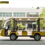 Coche de visita turístico de excursión eléctrico de la potencia de batería de la fábrica 48V de Dongguan