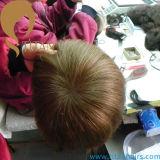 Remyのインドの人間の毛髪のToupeeの人のToupee
