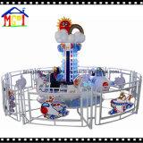 Muntstuk van de Speelplaats van jonge geitjes stelde het Binnen het Super Vliegtuig van de Machine van de Rit in werking