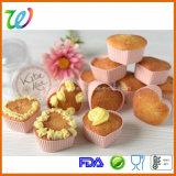 Fabrik-FDA-gebilligtes Silikon-Großhandelsinner-geformte Hochzeits-Kuchen-Kästen