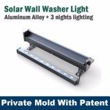 La pared accionada solar de calidad superior enciende el certificado del Ce de la lámpara de la arandela de la pared del RGB