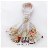 Bufanda elegante y agraciada de la impresión de la flor