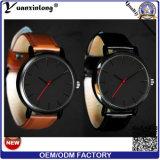 Relógios de pulso feitos sob encomenda do estilo do relógio de pulso de couro luxuoso do relógio da mão da cor dos homens unisex de quartzo do relógio de senhoras da moda de Yxl-51 Promotioan