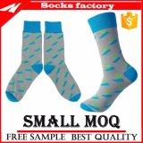 Calcetín de encargo con los calcetines ocasionales de la alineada del tobillo del calcetín del asunto de los hombres de la insignia