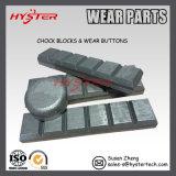 Barre bianche bimetalliche di Chocky di usura del ferro per la benna Maintenace