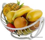 Cremagliera di verdure del banco di mostra del basamento del supporto del cestino della cremagliera della frutta del metallo