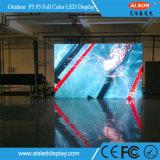Placa de tela de alumínio de fundição 5.95mm de anúncio ao ar livre do diodo emissor de luz do gabinete do arrendamento