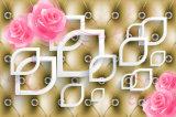 3D розовый Rose и белая картина маслом формы губы для домашнего украшения