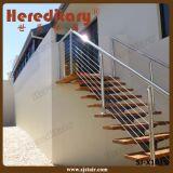 Balustrade de Rod d'acier inoxydable de terrasse d'escalier