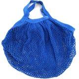 Sacchetto di acquisto organico della rete del cotone del nero della maniglia del cotone dei Eco-Sacchetti