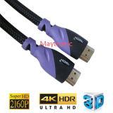 3D, 4k, 2160p cabo da parte alta HDMI