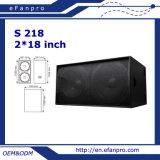 Doppeltes 18 Zoll Subwoofer Woofer-Lautsprecher-Kasten für grosses Erscheinen (S 218 - TAKT)