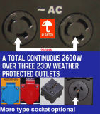 generador refrigerado de la gasolina 3kw 100%Copper con la placa
