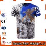 T-shirts 100% de Mens de coton d'impression de la mode 3D de prix usine