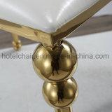 Cadeira da sala de visitas do aço inoxidável da cor do ouro com jantar do restaurante