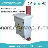 UPS en línea al aire libre 1kVA con la batería 48VDC 50A del hierro del litio