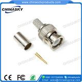 Conector masculino del prensado BNC del cable coaxial Rg59 para la seguridad del CCTV (CT5045)