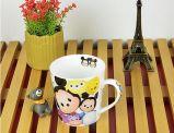 卸し売り11oz Vの形陶磁器動物プリントコーヒー・マグ