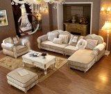 標準的な現代居間ファブリックソファーの家具