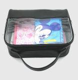 Sac personnalisé de renivellement de noir de translucidité de modèle pour le sac de produit de beauté de PVC de femmes clairement