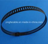 Serre-câble enduit certifié par ce d'acier inoxydable de PVC de qualité de GV RoHS