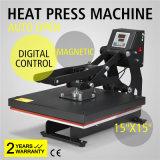 """15 """" macchina magnetica di sublimazione dell'automobile di X 15 """" della maglietta della pressa aperta semiautomatica di scambio di calore"""