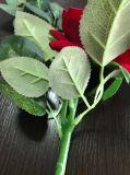 Verdadera del tacto de seda artificial flores de Rose para la decoración de la boda Decoración para el Hogar