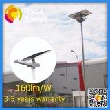 IP65는 높은 루멘 15W LED 태양 가로등을 방수 처리한다