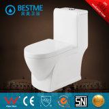 Toilette bon marché de salle de bains de forme carrée de Siphonic d'économie de l'eau blanche (BC-2013)