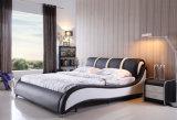 Base moderna del cuero genuino del nuevo diseño elegante (HC385) para el dormitorio
