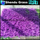 屋内バルコニーの床のための柔らかい人工的な紫色の草