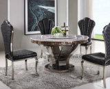 現代円形のステンレス鋼のダイニングテーブルデザイン